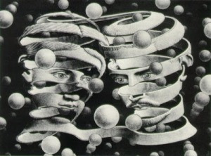 escher postmodern love relationship society free conversation