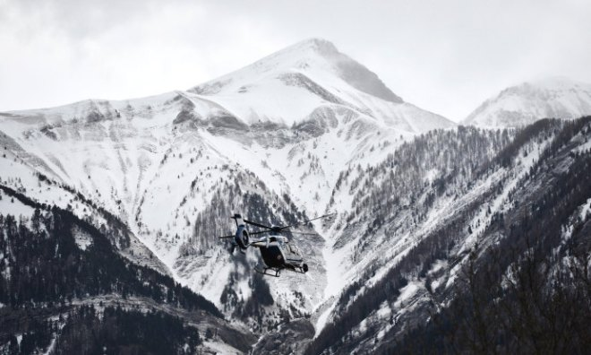 A French helicopter departs for the site where Germanwings Flight 9525 crashed.                  CREDITPHOTOGRAPH BY MUSTAFA YALCIN/ANADOLU AGENCY/GETTY